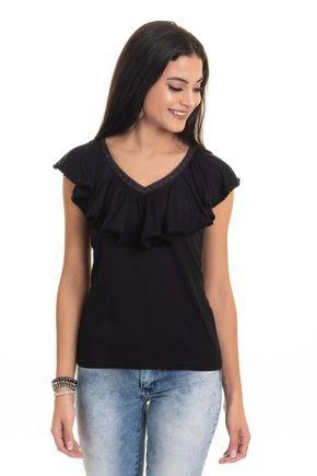 2556 99 tpd 3126 blusa feminina em visco com babado p a gg