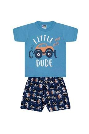 7355 azul conjunto infantil masculino carrinho