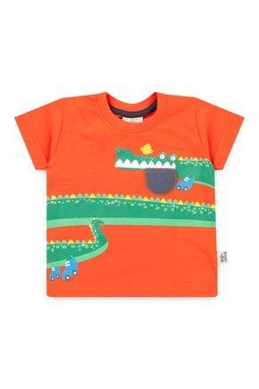 6013 camiseta laranja avulsa meia malha pmg