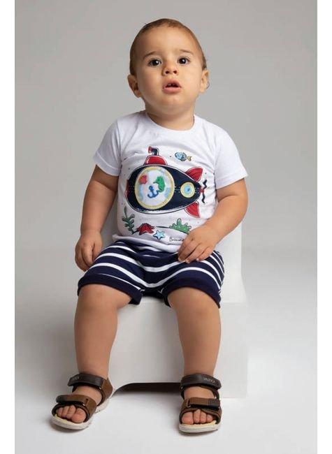 6023 conjunto camiseta branco meia malha e shorts pmg