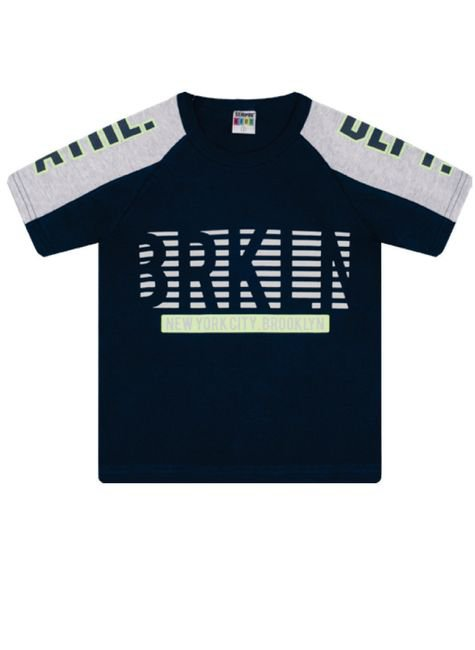 7382 marinho camiseta infantil masculina