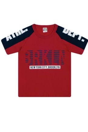 7382 vermelho camiseta infantil masculina