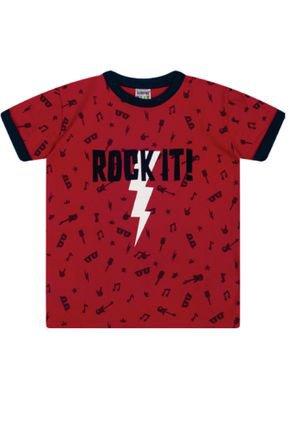 7383 vermelho camiseta masculina rock it