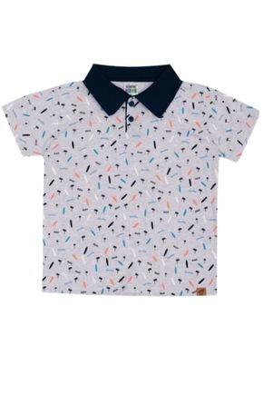 7385 mescla claro camisa polo infantil masculina