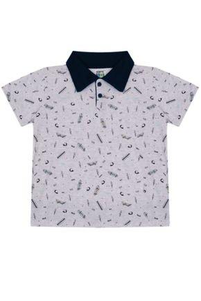 7386 mescla claro camisa polo infantil masculina