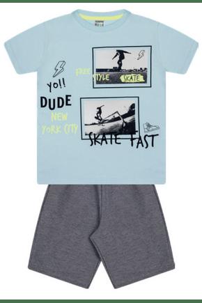7390 azul conjunto infantil masculino moletom skate