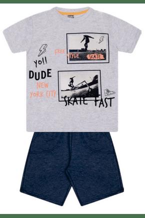 7390 mescla conjunto infantil masculino moletom skate