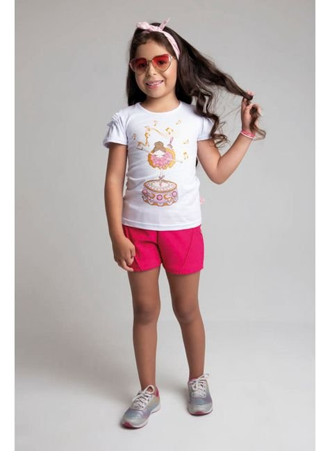 6223 conjunto blusa branco meia malha e shorts 46810