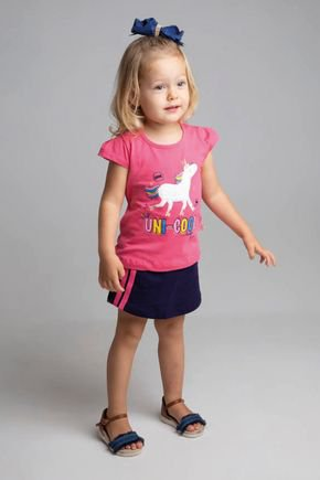 6197 conjunto blusa pink cotton e shorts saia moletinho 123