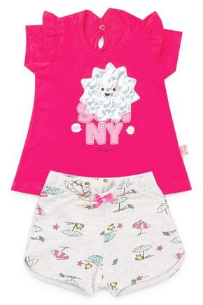 6171 conjunto blusa pink meia malha e shorts moletinho rotativo praia pmg 1