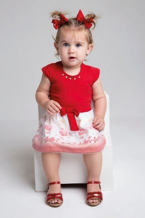 6150 vestido red cotton com saia sublimada pmg