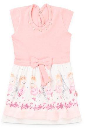 6150 vestido rosa velho cotton com saia sublimada pmg
