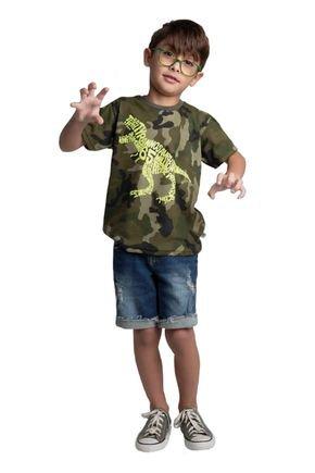 6088 camiseta fundo verde avulsa meia malha rotativa camuflada 46810
