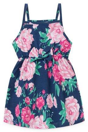 2086 vestido de alcinha infantil estampado floral flores 2