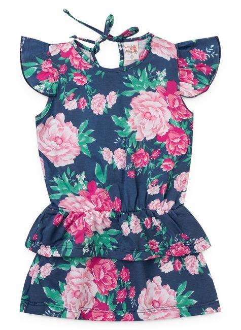 2101 vestido infantil floral com babados 1