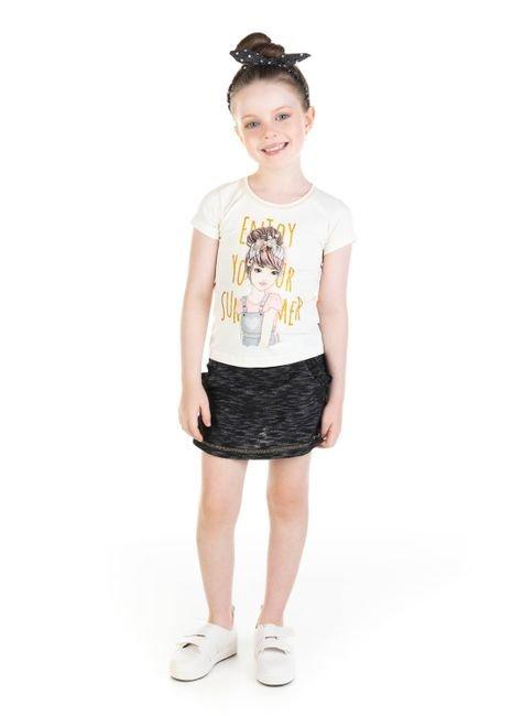11648 3 conjunto blusa em cotton e shorts saia em moletinho devore 0