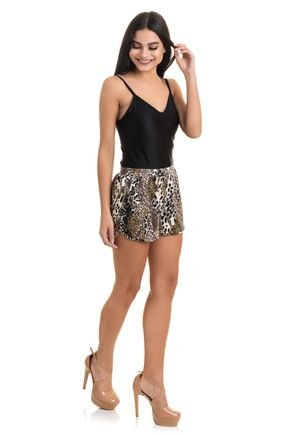 2388 short viscolycra estampada flores folhas animal print 3