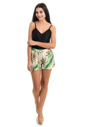 2388 short viscolycra estampada flores folhas animal print 5