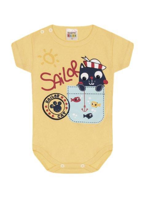 7323 amarelo body infantil menino