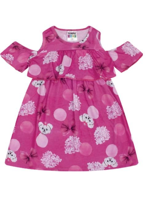 7340 pink vestindo infantil feminino