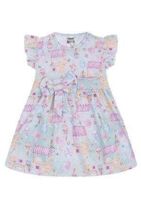7341 verde vestido infantil menina com laco