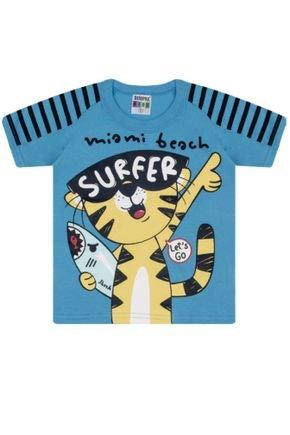 7347 azul camiseta intantil tigre
