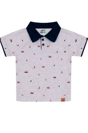 7348 mescla camiseta polo intantil
