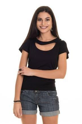 2569 99 tpd 3708 blusa feminina em viscose com pompom decote p a gg