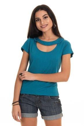2569 1454 tpd 3736 blusa feminina em viscose com pompom decote p a gg