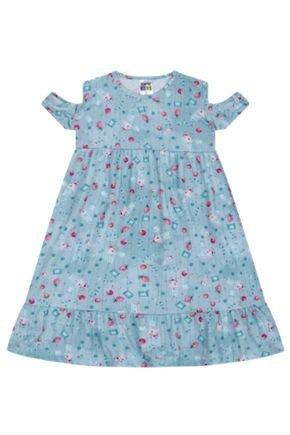 7378 azul vestido infantil menina