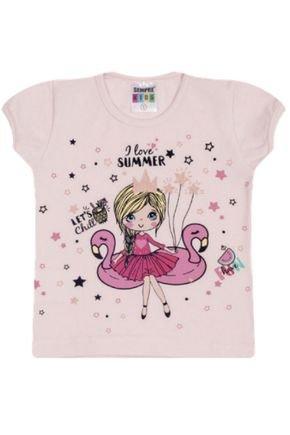 7327 rosa nude blusa infantil bailarina flamingo