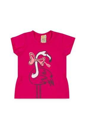 154 blusa flamingo infantil pink