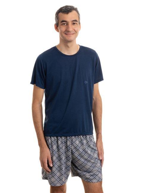 10148 pijama masculino liso 2