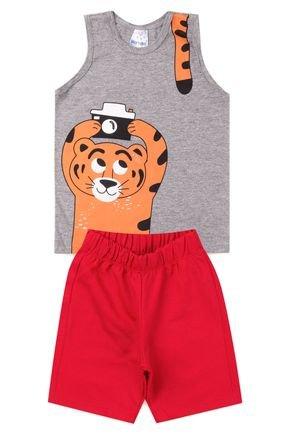 5018 conjunto infantil masculino tigre 4