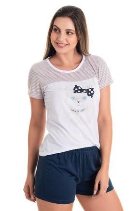 10161 pijama feminino gatinho 4