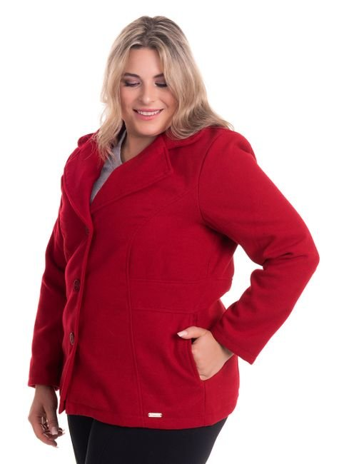 2083 2 casaco feminino em la batida plus size
