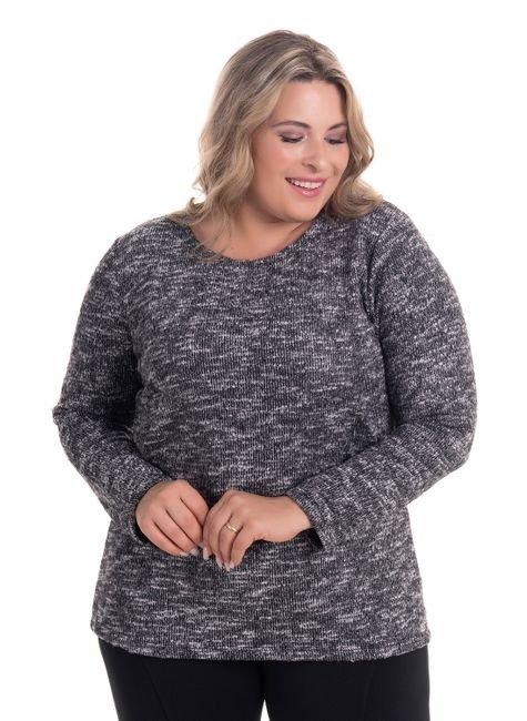2269 1 blusa em malha tricot brushed plus size