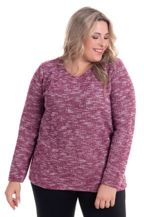 2269 1 3 blusa em malha tricot brushed plus size