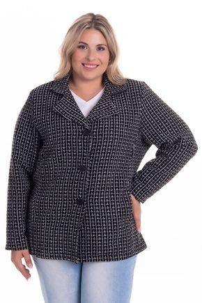 2283 3 casaco la tweed plus size