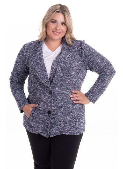 2290 1 casaqueto em malha tricot brush plus size