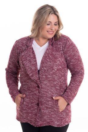 2290 3 casaqueto em malha tricot brush plus size