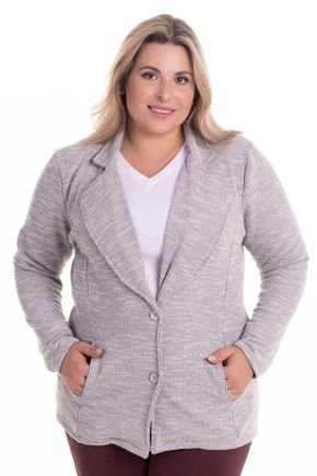 2290 6 casaqueto em malha tricot brush plus size