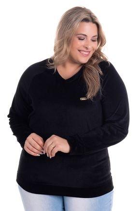 2520 6 blusa em plush decote v plus size
