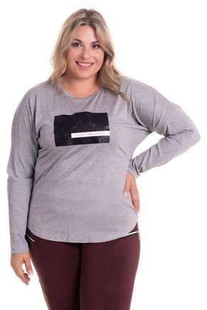 2523 3 blusa feminina decote redondo em malha visco plus size