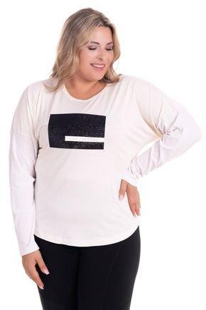 2523 5 blusa feminina decote redondo em malha visco plus size