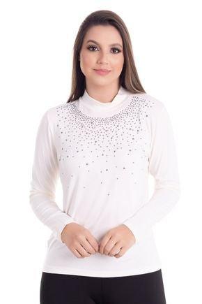 2449 1 blusa feminina gola alta com strass 0