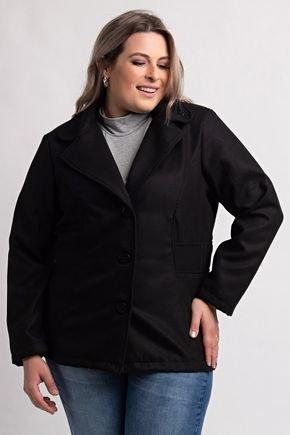 2083 casaco plus size feminino la batida 2