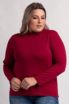 8000 blusa plus size feminina manga longa gola alta viscolycra 6