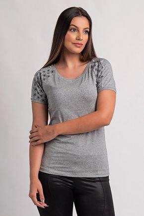 722 raca blusa femina manga curta com perolas 2