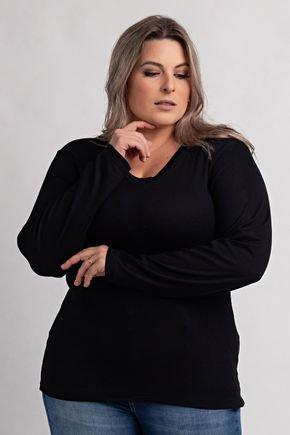 2155 blusa feminina plus size ribana canelada gola v ki beleza 5